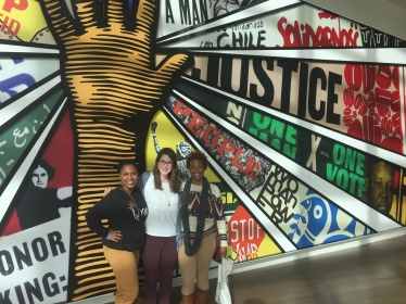 Exploring the Civil & Human Rights Museum in ATL with my #cohortcrew!